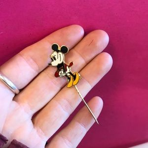 Vintage Jewelry - Mini MINNIE Mouse Stick Pin Brooch